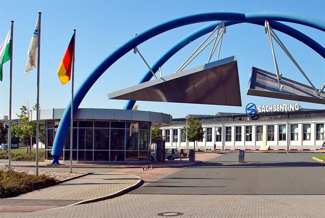 Foto vom Firmengebäude der Sachsenring AG inZwickau