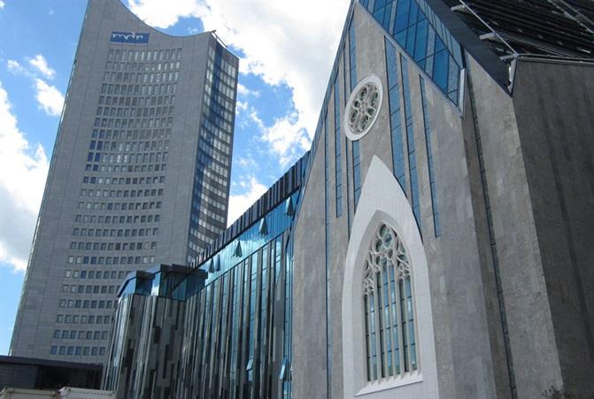 Foto von Leipzig Paulinum Aula und Universitaetskirche