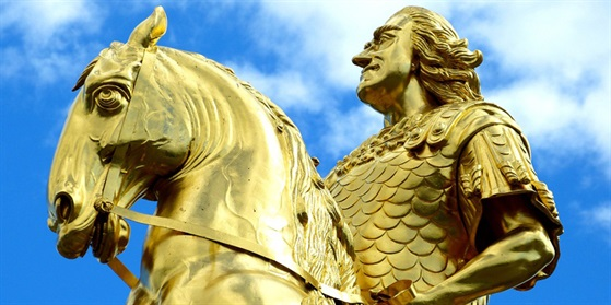 Foto vom Denkmal Goldener Reiter Dresden