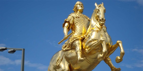 Foto von der Statue August der Starke in Dresden
