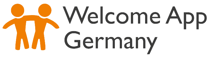 Logotipo de la Welcome App Germany